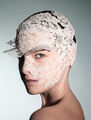 Philip Treacy - Floral lace headpiece