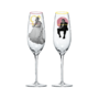 LFS Merch champagne flutes