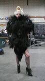 Monster Ball Goat Fur Jacket fitting