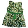 Dior - Silk leopard green top