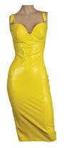Atsuko Kudo Yellow Wonder Cup Pencil Dress