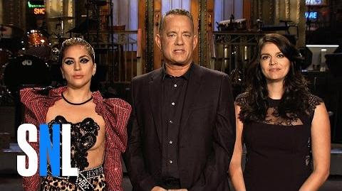 SNL - Tom Hanks and Lady Gaga