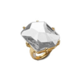 Kenneth Jay Lane - Gold plated faceted crystal ring
