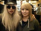 12-04-2009 Lady gaga with fan in pub