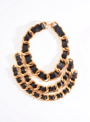 Chanel - Chained leather necklace 002