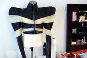 Jac Langheim - Latex cropped top jacket