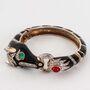 Ciner - Black enamel horse and bit clamper bracelet