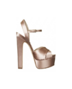 Brian Atwood - ''Madison'' satin criss-cross slingback platform sandal