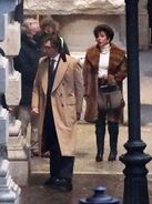 4-17-21 On the set of ''House of Gucci'' in Rome, Italy 005