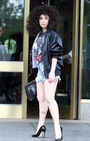 6-10-14 Leaving her apartment in NYC 001