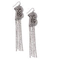 KJL x BM - The shower B drop Square Dangly earrings