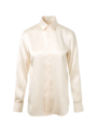 Saint Laurent - Champagne silk button-up blouse