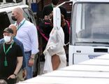 4-27-21 Arriving on the set of ''House of Gucci'' in Rome, Italy 003