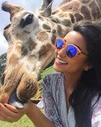 Celeste at zoo