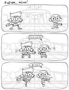 KO and Dendy Fusion Drawing Dave