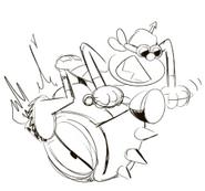 Biker Drawing by Danny