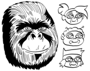 OKKO Trio Gorilla Face Dave