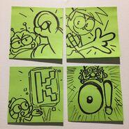 OKKO Characters Sign Drawing KF