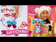DIY Butterfly Made of Yarn! - Episode 12- Finger Knitting - Lalaloopsy- Let's Create