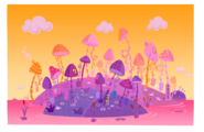 Lala-Oopsie Land Fairy Island color rough
