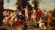 Apolo y las musas con Mnemósine