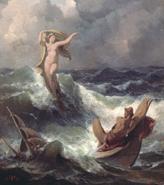 Leucótea y Odiseo
