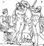 Rea y la danza de los Curetes