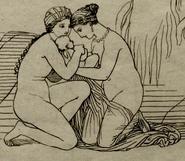 Tetis, Eurínome y Hefesto
