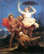 Apolo, Dafne y Peneo