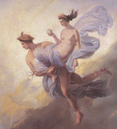 Hermes llevando a Pandora