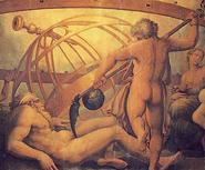 Cronos castrando a Urano