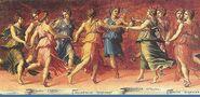 Musas con Apolo