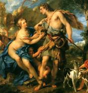 Adonis y Afrodita