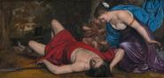 Afrodita mirando el cadaver de Adonis