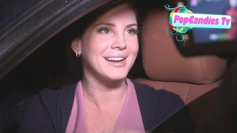 Lana Del Rey looks delectable while greeting fans with a friend departing Craigs WeHo
