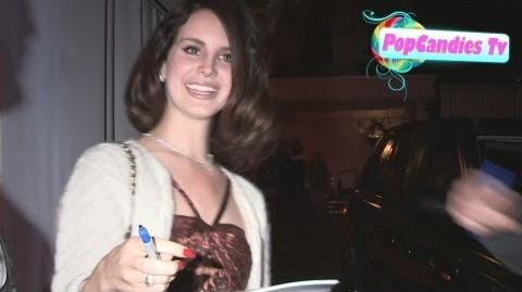 Lana Del Rey has a Heart of Gold while greeting her fans at Chateau Marmont in West Hollywood