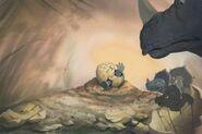 LAND BEFORE TIME Color Key DON BLUTH Original Production Animation Cel Concept
