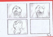 The Land Before Time 1988 Production Storyboard Copy Page 3 DON BLUTH -SH003