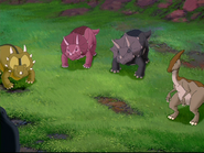 Styracs in this series are Triceratops sized