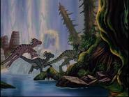 Ornitholestes flock