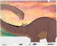 The Land Before Time Littlefoot and Mother Production Cel 3