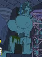 The Simpsons Game Lara Croft Statue