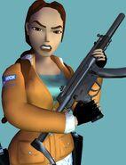 Lara with a MP5