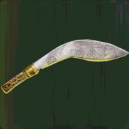Gilded Kukri Blade