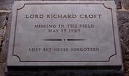 Richard Croft Grave Stone