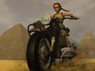 Lara Biking in Egypt