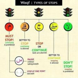 Punctuation marks in the Arabic text of the Holy Qur'an