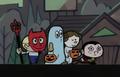 Niños disfrazados (Noche de Halloween)
