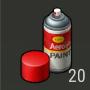 Objetos Pintura roja