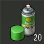 Objetos Pintura verde